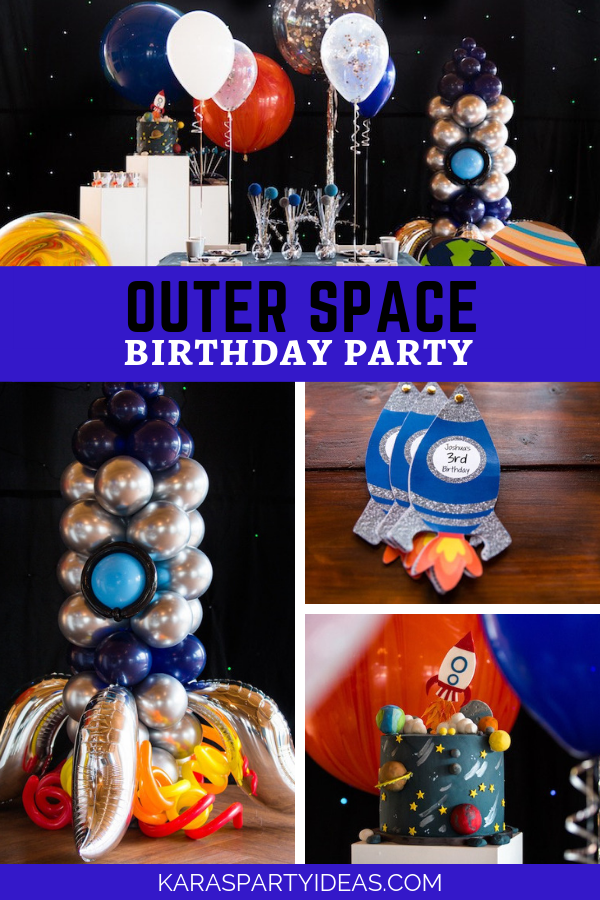 Outer Space Birthday Party via Kara's Party Ideas - KarasPartyIdeas.com