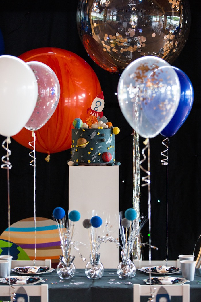 Space Cake Pedestal from an Outer Space Birthday Party via Kara's Party Ideas | KarasPartIdeas.com (12)