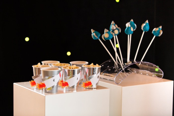 Rocket Cups & Cake Pops from an Outer Space Birthday Party via Kara's Party Ideas | KarasPartIdeas.com (10)
