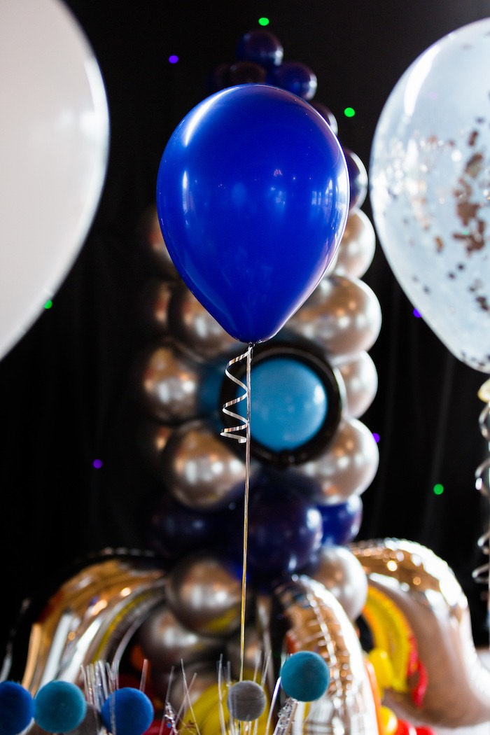 Blue Balloon from an Outer Space Birthday Party via Kara's Party Ideas | KarasPartIdeas.com (7)