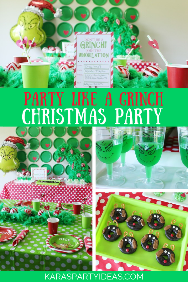 Kara S Party Ideas Party Like A Grinch Christmas Party Kara S