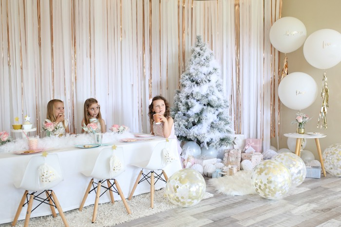 Pastel Glam Christmas Party for Kids on Kara's Party Ideas | KarasPartyIdeas.com (12)