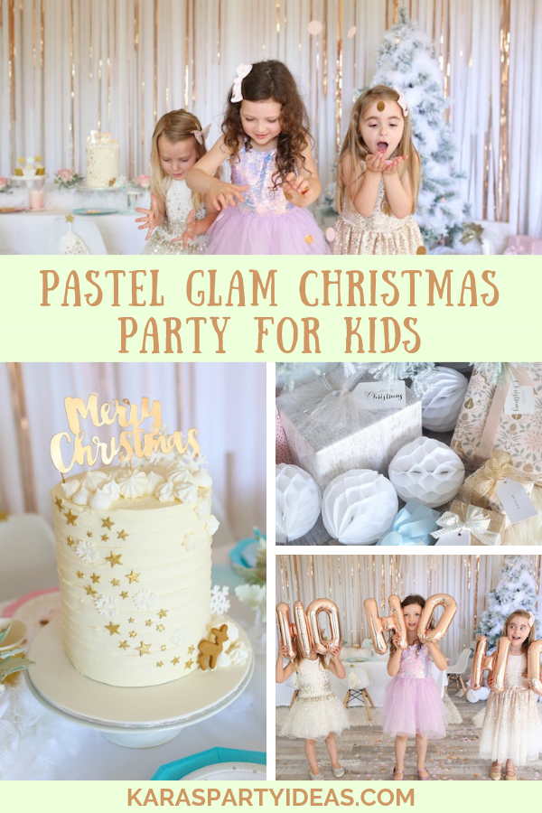Pastel Glam Christmas Party for Kids via Kara's Party Ideas - KarasPartyIdeas.com