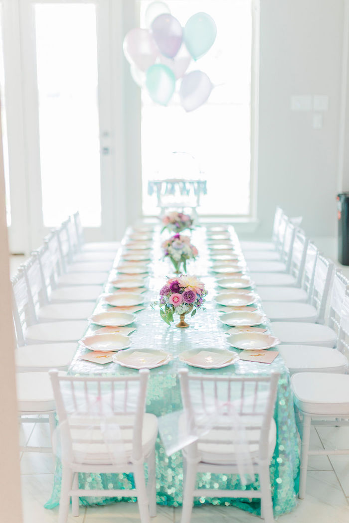 Unicorn-inspired Party Table from a Pastel Glam Unicorn Birthday Party on Kara's Party Ideas | KarasPartyIdeas.com (35)