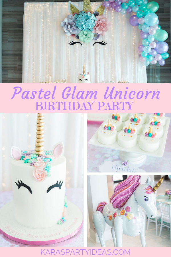 Pastel Glam Unicorn Birthday Party via Kara's Party Ideas - KarasPartyIdeas.com