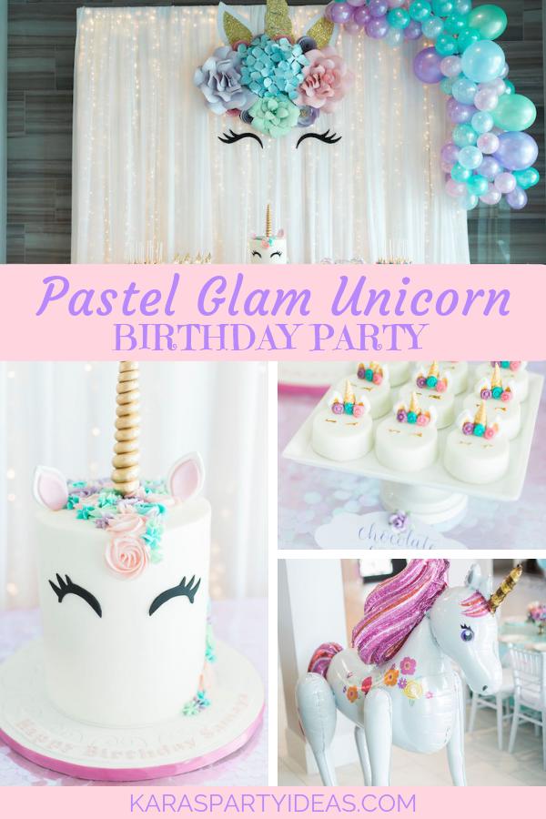Pastel Glam Unicorn Birthday Party via Kara's Party Ideas - KarasPartyIdeas.com
