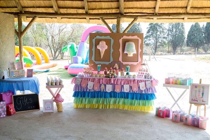 Pastel Ice Cream Birthday Party on Kara's Party Ideas | KarasPartyIdeas.com (21)