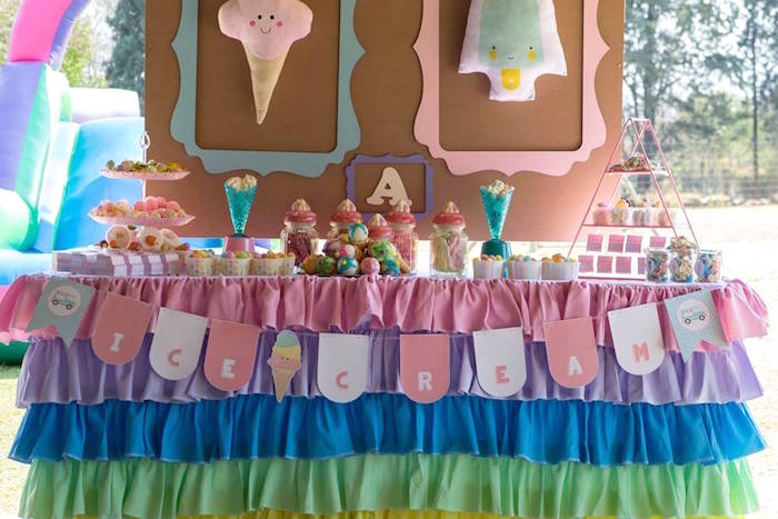 Pastel Ice Cream Birthday Party on Kara's Party Ideas | KarasPartyIdeas.com (20)
