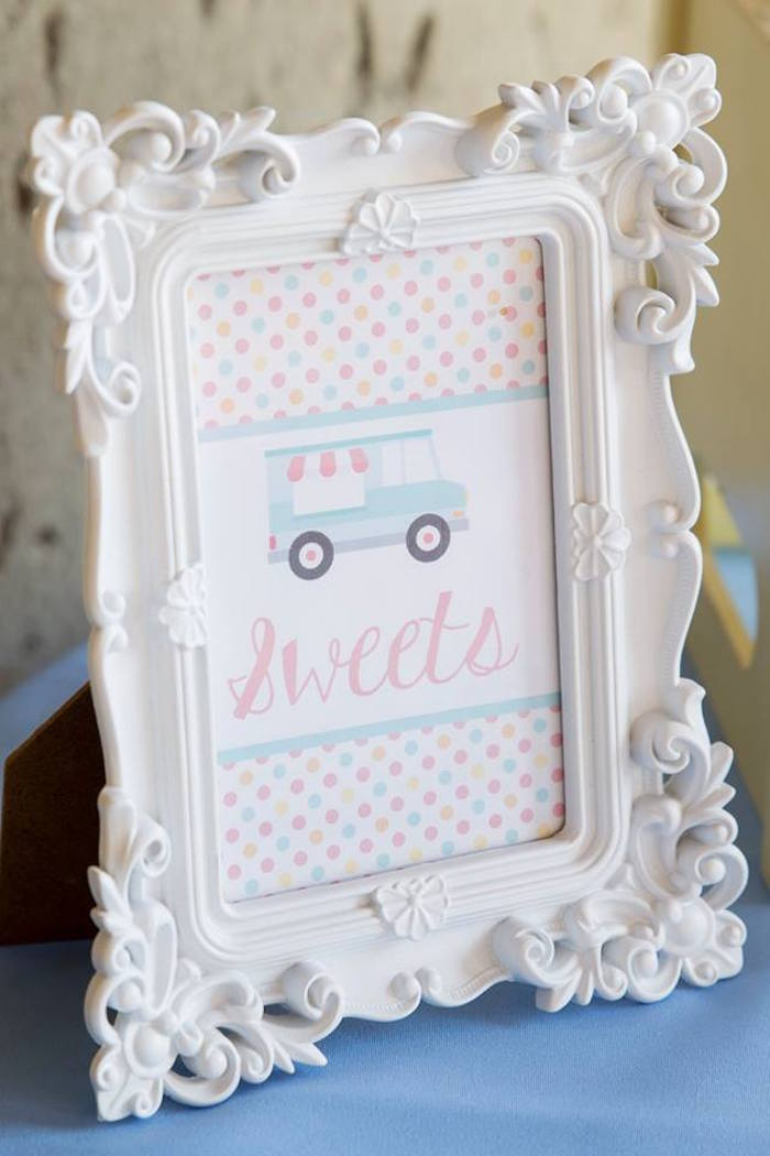 Ice Cream Truck - Sweets Print from a Pastel Ice Cream Birthday Party on Kara's Party Ideas | KarasPartyIdeas.com (11)