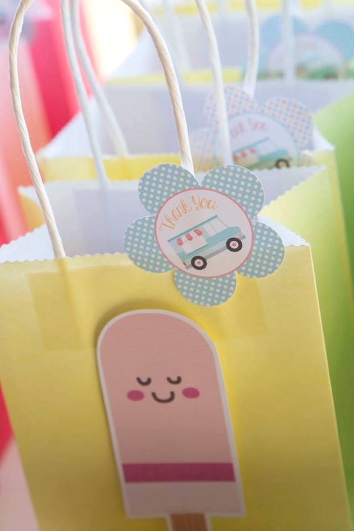 Ice Cream Favor Bag from a Pastel Ice Cream Birthday Party on Kara's Party Ideas | KarasPartyIdeas.com (9)