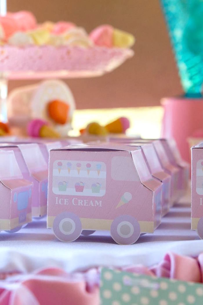 Ice Cream Truck Lunch + Favor Boxes from a Pastel Ice Cream Birthday Party on Kara's Party Ideas | KarasPartyIdeas.com (7)