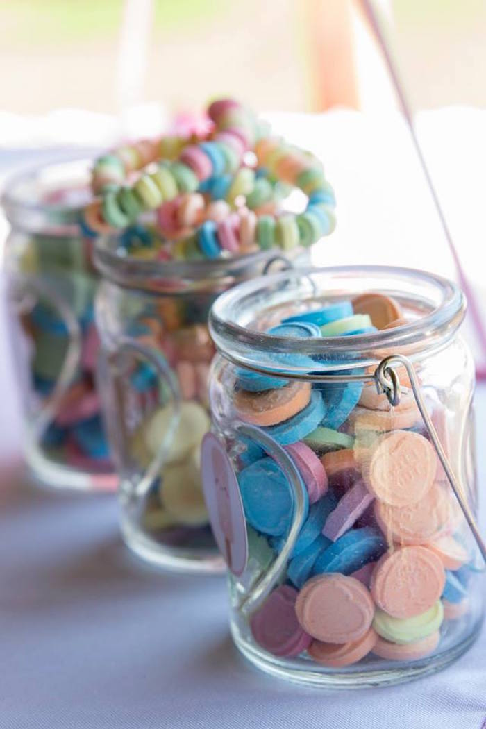 Candy Jars from a Pastel Ice Cream Birthday Party on Kara's Party Ideas | KarasPartyIdeas.com (6)