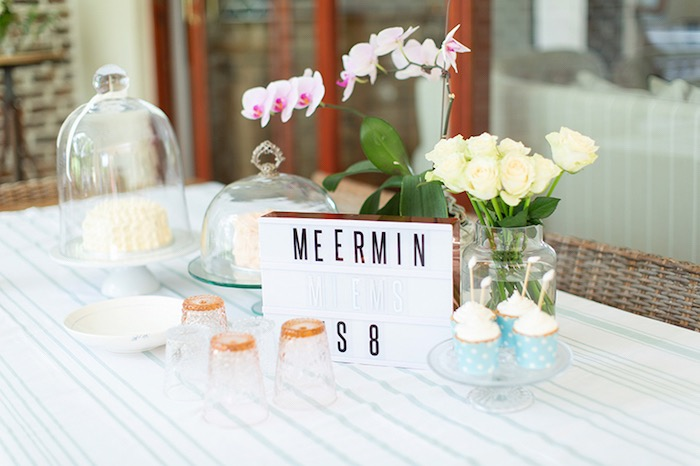 Mermaid-inspired Sweet Table from a Pastel Mermaid Birthday Party on Kara's Party Ideas | KarasPartyIdeas.com (12)