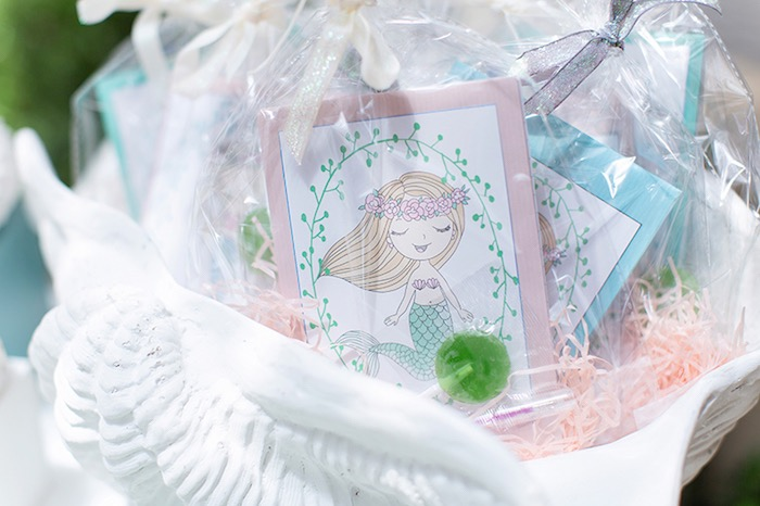Mermaid Party Favors from a Pastel Mermaid Birthday Party on Kara's Party Ideas | KarasPartyIdeas.com (10)