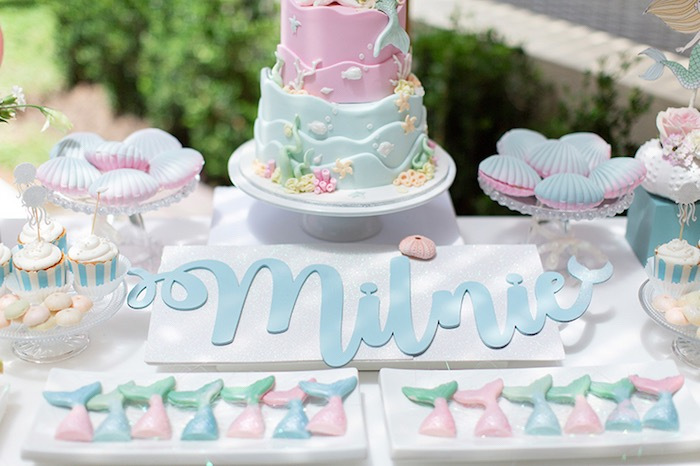 Pastel Mermaid Birthday Party on Kara's Party Ideas | KarasPartyIdeas.com (25)
