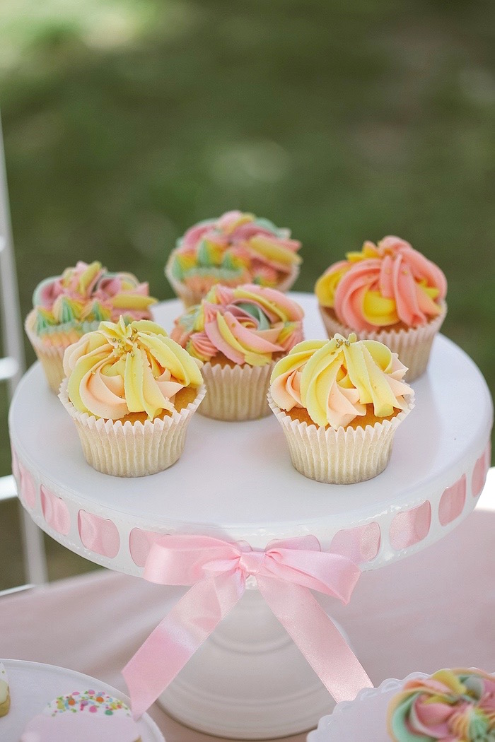 Cupcakes from a Pastel Sweet 2nd Birthday Party on Kara's Party Ideas | KarasPartyIdeas.com (21)