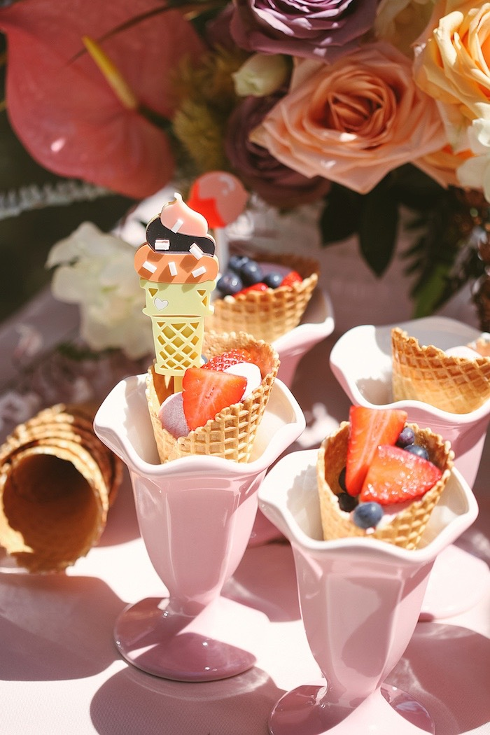 Berry Sugar Cones from a Pastel Sweet 2nd Birthday Party on Kara's Party Ideas | KarasPartyIdeas.com (20)