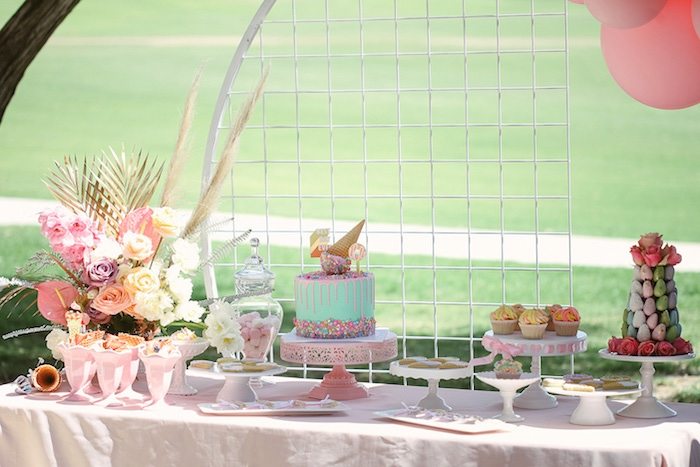 Pastel Dessert Table from a Pastel Sweet 2nd Birthday Party on Kara's Party Ideas | KarasPartyIdeas.com (17)
