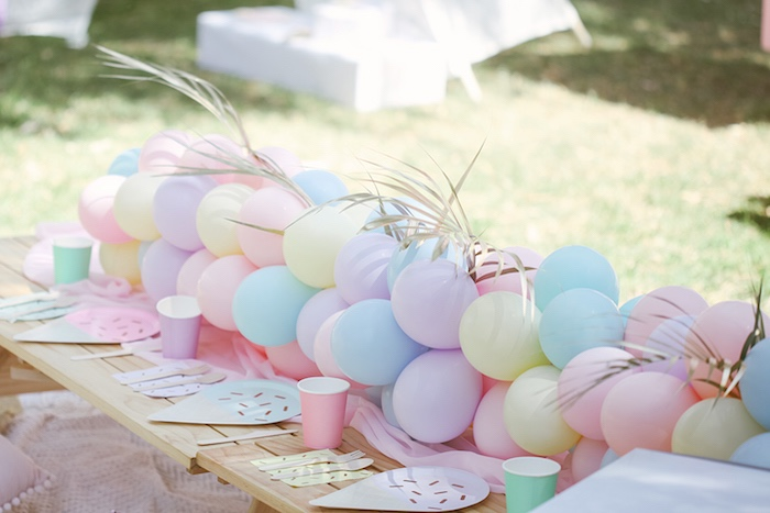 Pastel Party Table from a Pastel Sweet 2nd Birthday Party on Kara's Party Ideas | KarasPartyIdeas.com (30)