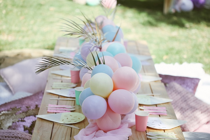 Pastel Party Table from a Pastel Sweet 2nd Birthday Party on Kara's Party Ideas | KarasPartyIdeas.com (29)