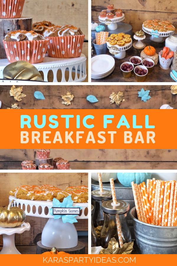 Rustic Fall Breakfast Bar via Kara's Party Ideas - KarasPartyIdeas.com.png