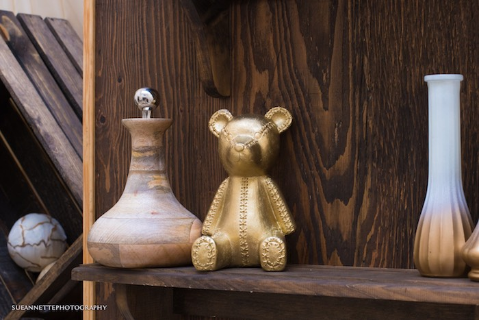 Gold Bear from a Rustic Teddy Bear Baby Shower on Kara's Party Ideas | KarasPartyIdeas.com (30)