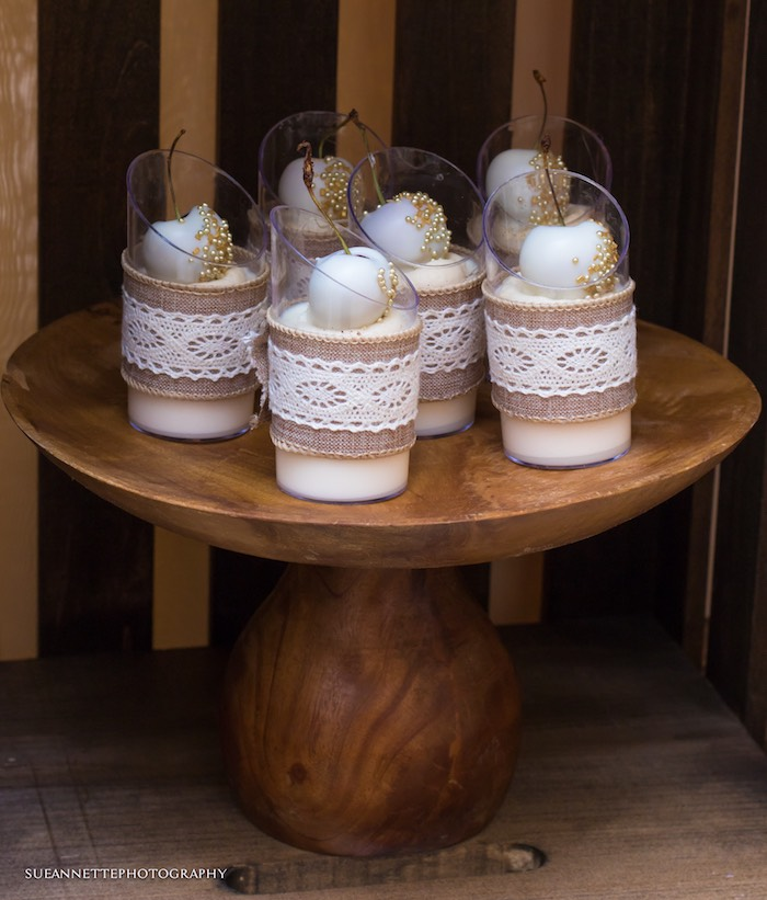 Rustic Chic Dessert Cups from a Rustic Teddy Bear Baby Shower on Kara's Party Ideas | KarasPartyIdeas.com (28)