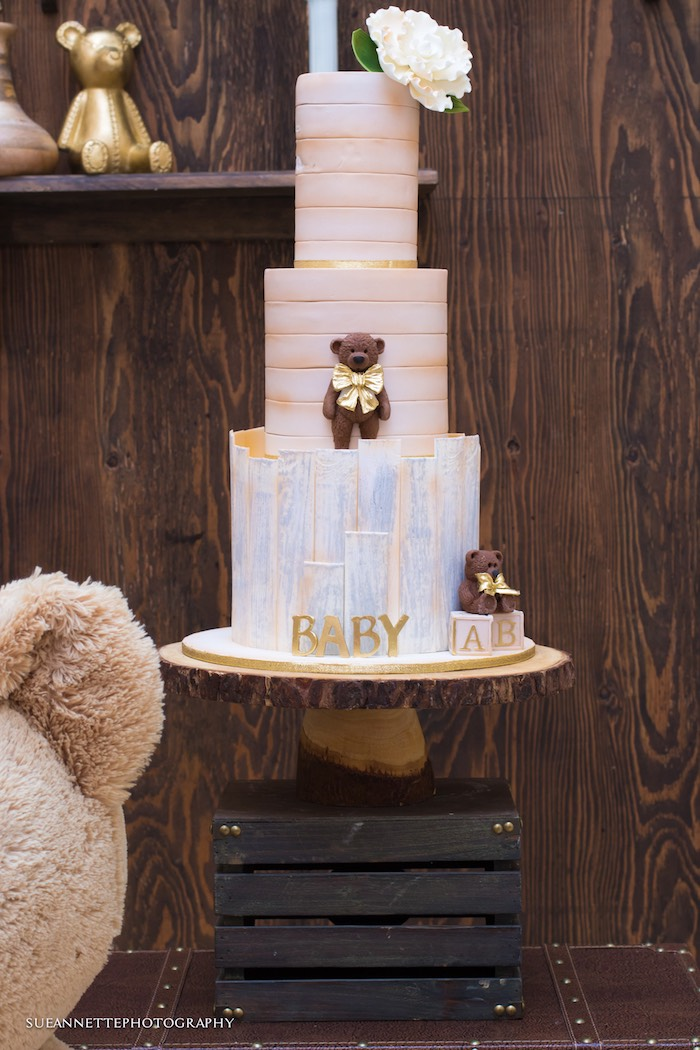 Kara S Party Ideas Rustic Teddy Bear Baby Shower Kara S