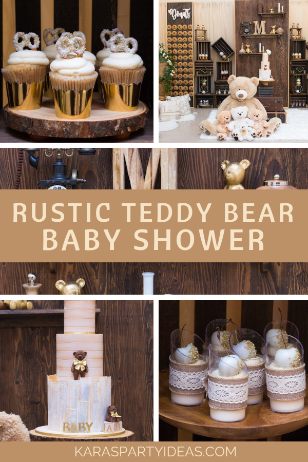 Rustic Teddy Bear Baby Shower via Kara's Party Ideas - KarasPartyIdeas.com.png