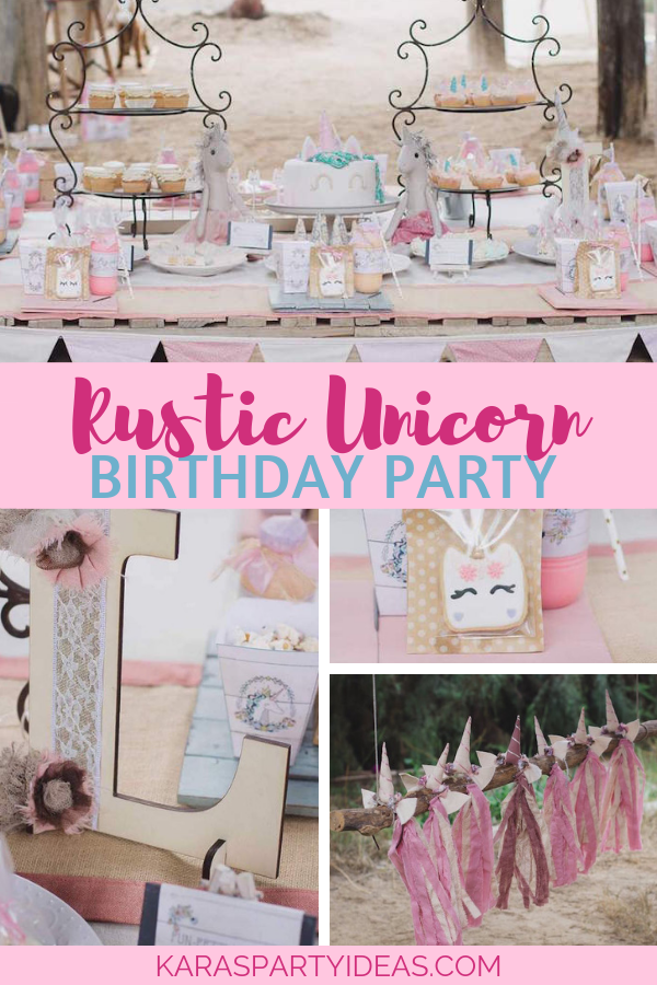 Rustic Unicorn Birthday Party via Kara's Party Ideas - KarasPartyIdeas.com