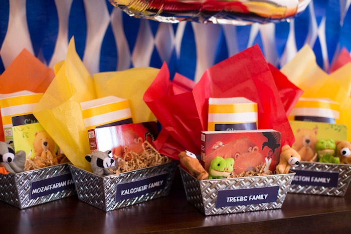Fire Favor Bins from a Two Hot Hot Campfire Birthday Party on Kara's Party Ideas | KarasPartyIdeas.com (23)