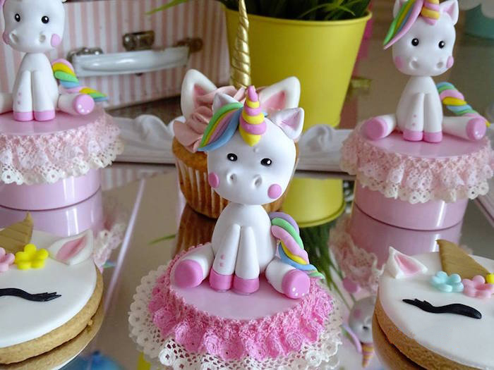Unicorn Topper from a Unicorn Princess Birthday Party on Kara's Party Ideas | KarasPartyIdeas.com (12)