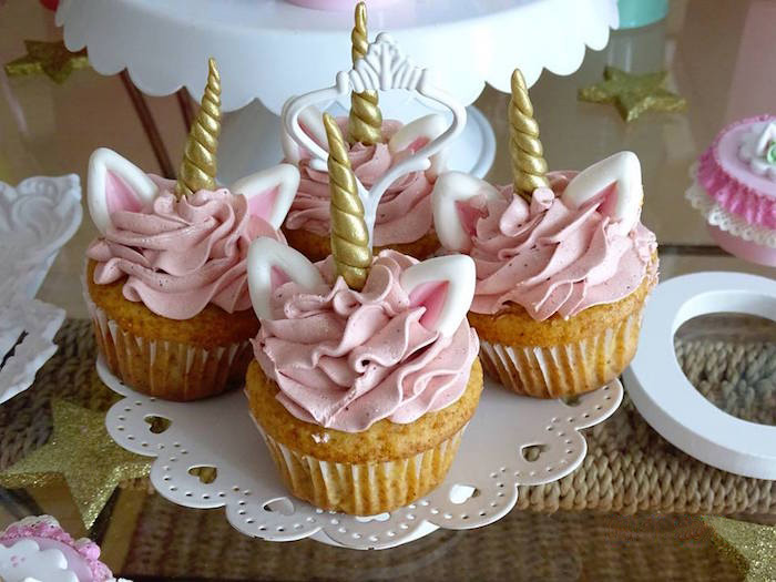 Unicorn Cupcakes from a Unicorn Princess Birthday Party on Kara's Party Ideas | KarasPartyIdeas.com (20)