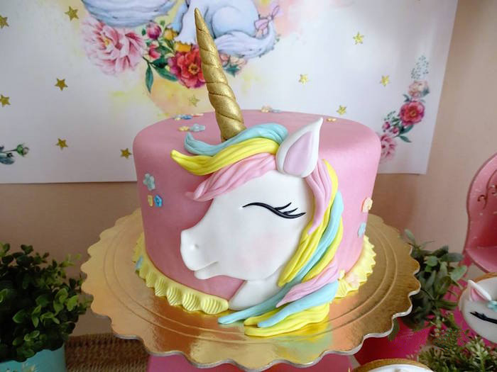 Unicorn Cake from a Unicorn Princess Birthday Party on Kara's Party Ideas | KarasPartyIdeas.com (19)
