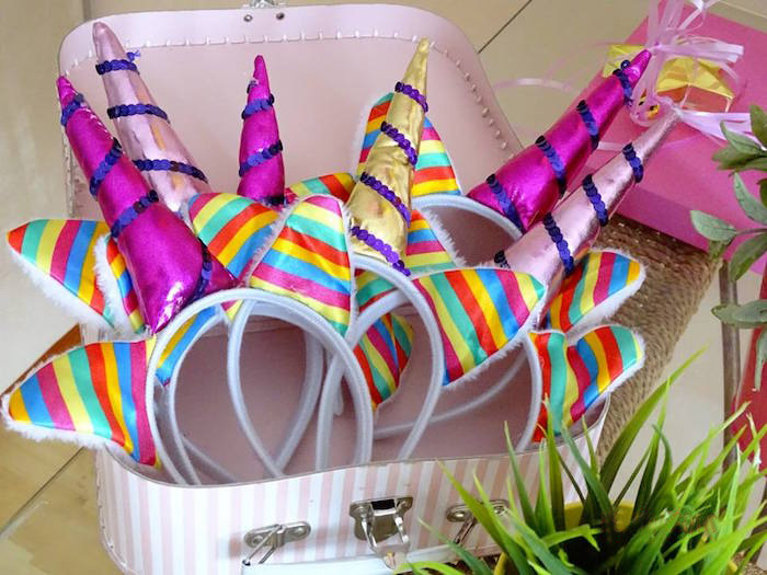 Unicorn Headbands from a Unicorn Princess Birthday Party on Kara's Party Ideas | KarasPartyIdeas.com (14)