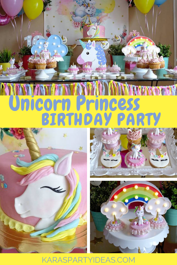 Unicorn Princess Birthday Party via Kara's Party Ideas - KarasPartyIdeas.com