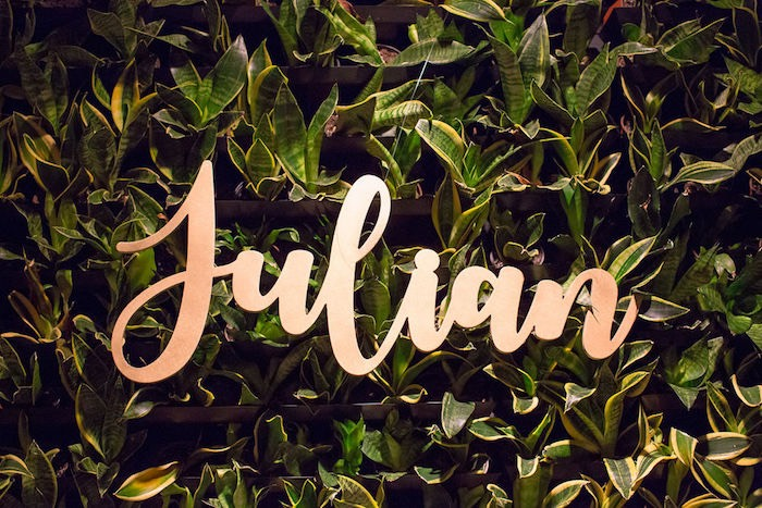 Scripted Backdrop Signage from a Vintage Baptism Party on Kara's Party Ideas | KarasPartyIdeas.com (11)