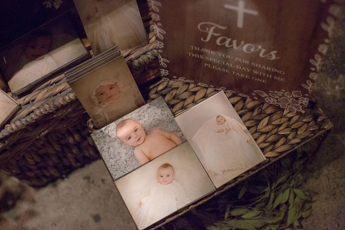 Photo Decoration from a Vintage Baptism Party on Kara's Party Ideas | KarasPartyIdeas.com (9)