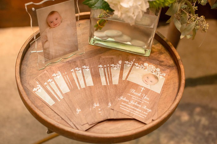 Thank You Cards from a Vintage Baptism Party on Kara's Party Ideas | KarasPartyIdeas.com (5)