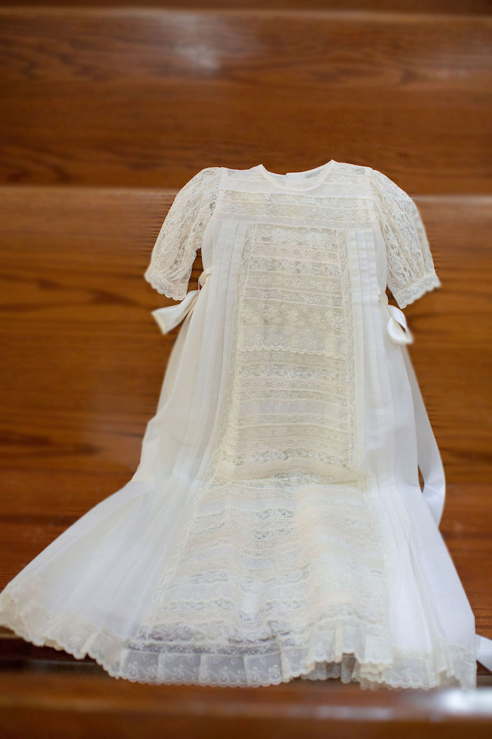 Baby Baptism Gown from a Vintage Baptism Party on Kara's Party Ideas | KarasPartyIdeas.com (29)
