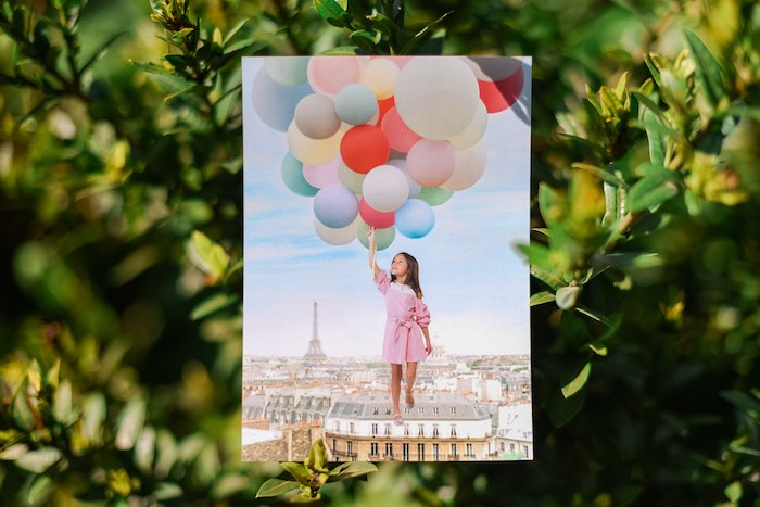Bday Invitation - A Postcard from Paris from a Prelude to Paris Birthday Party on Kara's Party Ideas | KarasPartyIdeas.com