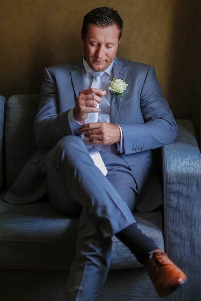 "Groom from a ""Love at First Sight"" Romantic Modern Wedding on Kara's Party Ideas | KarasPartyIdeas.com (14)"