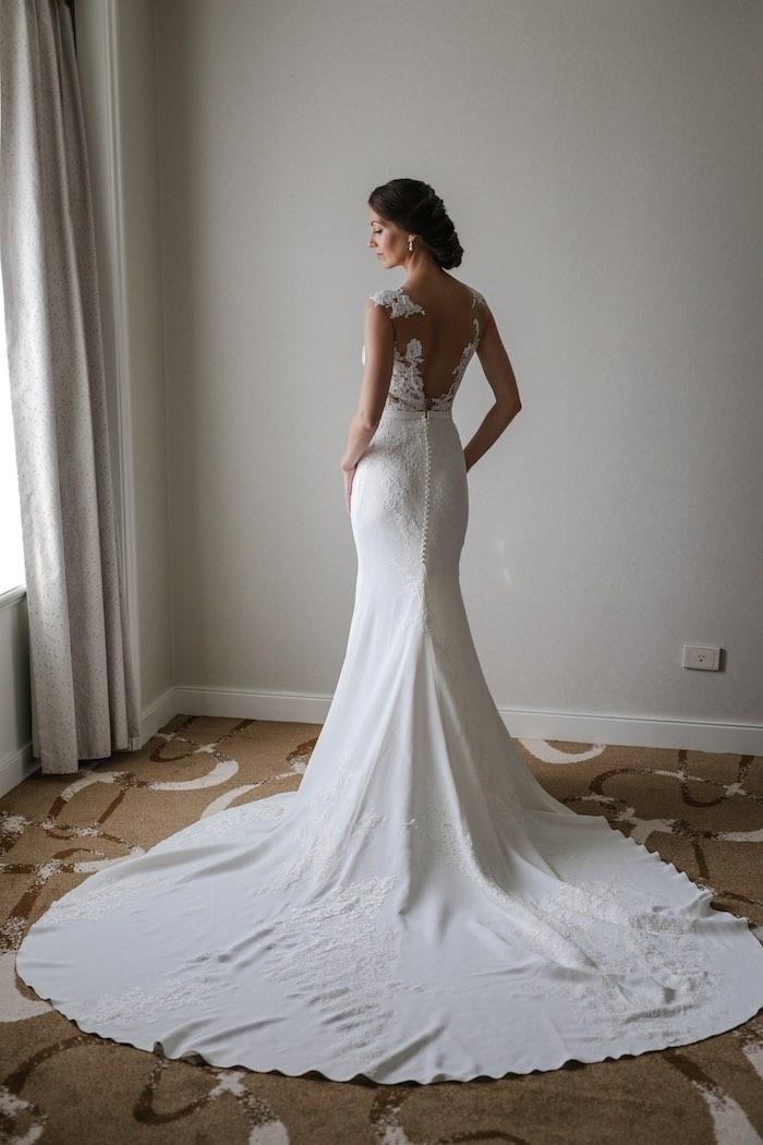 "Bride from a ""Love at First Sight"" Romantic Modern Wedding on Kara's Party Ideas | KarasPartyIdeas.com (13)"