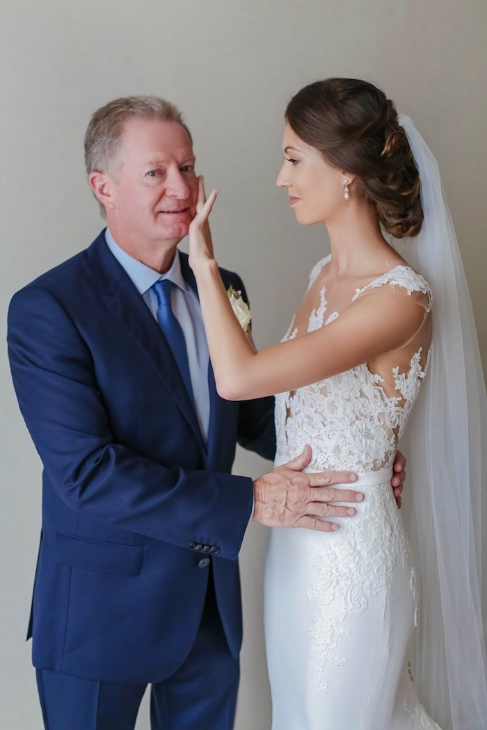 """Father of the Bride from a """"Love at First Sight"""" Romantic Modern Wedding on Kara's Party Ideas 