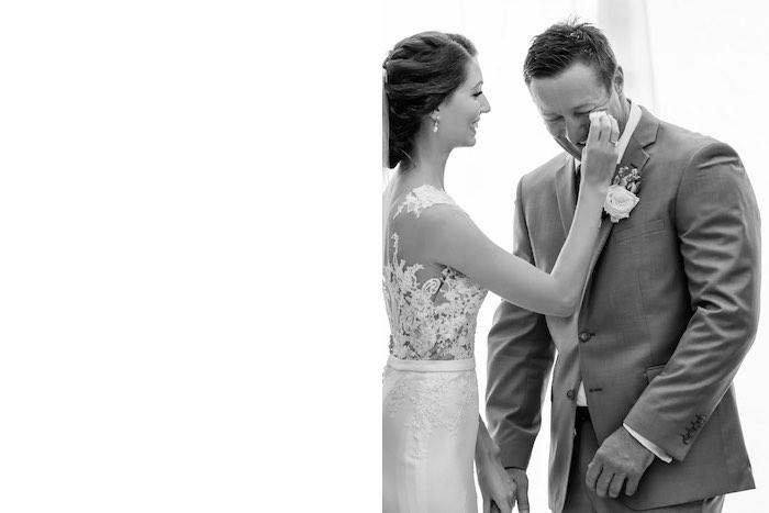 "Happy Tears from a ""Love at First Sight"" Romantic Modern Wedding on Kara's Party Ideas | KarasPartyIdeas.com (23)"