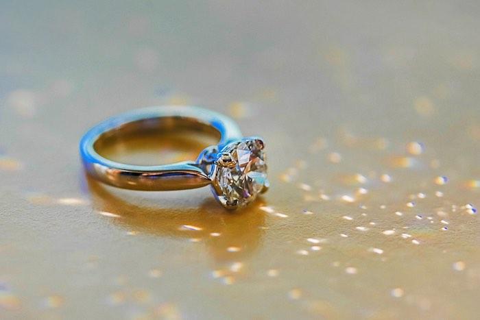 "Diamond Ring from a ""Love at First Sight"" Romantic Modern Wedding on Kara's Party Ideas | KarasPartyIdeas.com (18)"