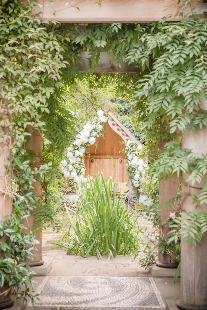 "Garden Entrance from an ""Oh Baby"" Garden Oasis Baby Shower on Kara's Party Ideas 