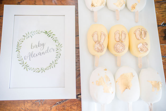 """Cake Popsicles from an """"Oh Baby"""" Garden Oasis Baby Shower on Kara's Party Ideas   KarasPartyIdeas.com (9)"""