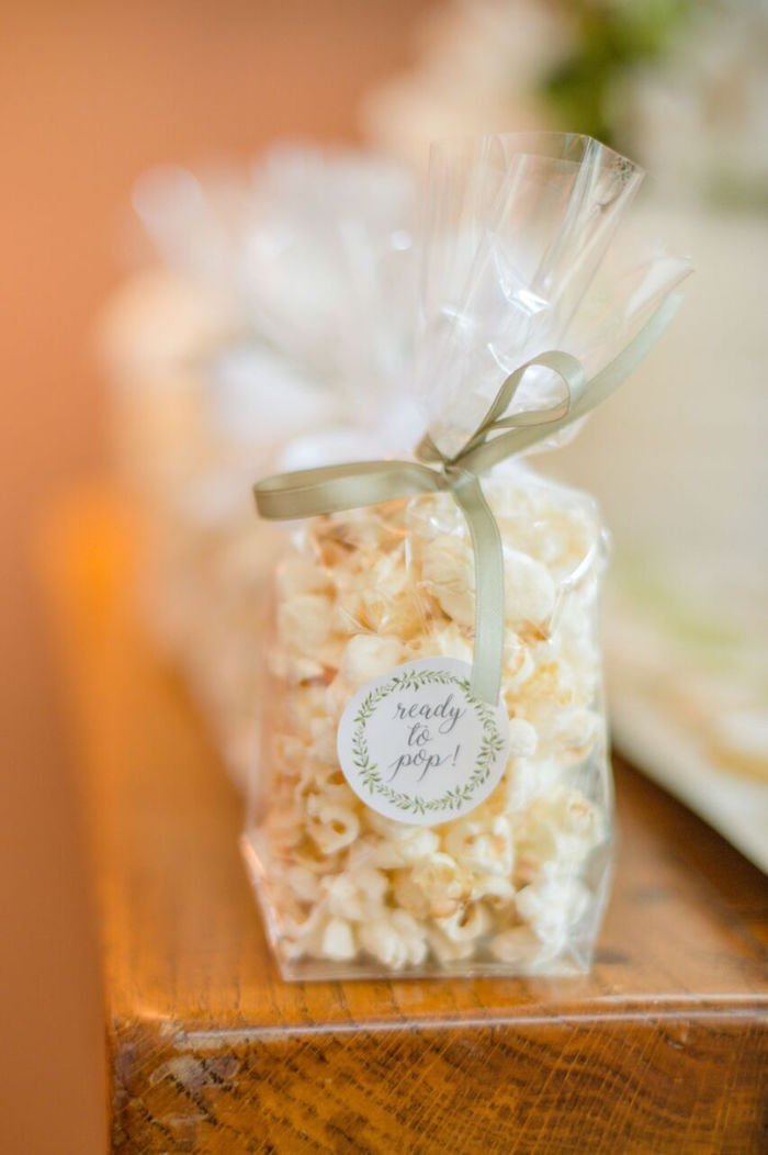 "Ready to Pop - Popcorn from an ""Oh Baby"" Garden Oasis Baby Shower on Kara's Party Ideas 