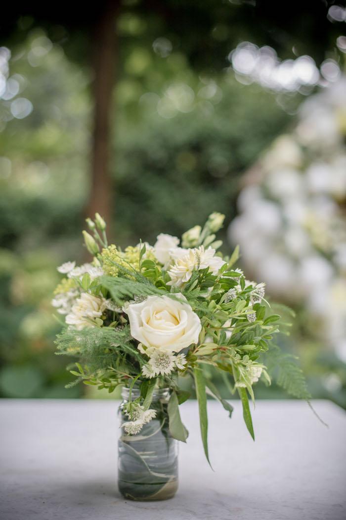 "White Garden Blooms from an ""Oh Baby"" Garden Oasis Baby Shower on Kara's Party Ideas   KarasPartyIdeas.com (29)"